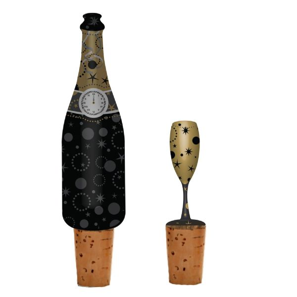 New Year Design Wine Bottle Stoppers